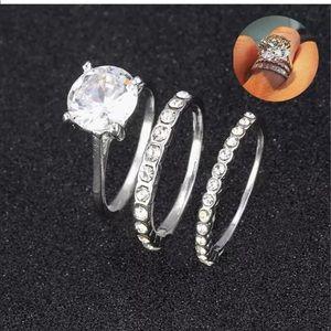 Women's 3 PC 5 carat promise wedding ring SZ 6,7 8